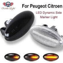 Светодиодный динамический боковой маркер индикатор сигнала светильник для Citroen Berlingo Xsara Picasso нервный C1 C2 C3 C5 C6 peugeot 206 207 307 407