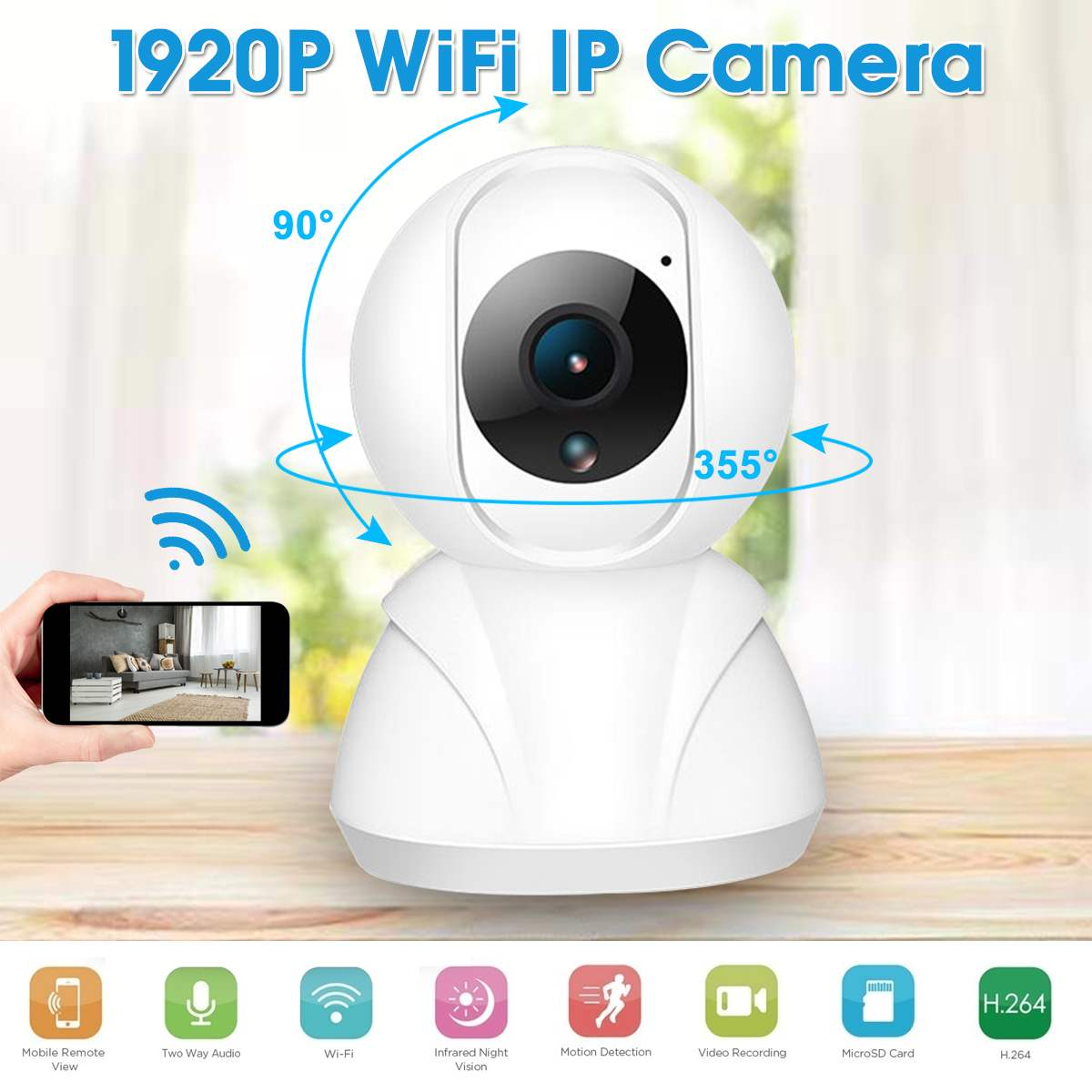 960/1080/1960P Wireless IP Camera 3MP Household Surveillance Camera With Automatic Tracking Two Way Voice Function Cry Detection