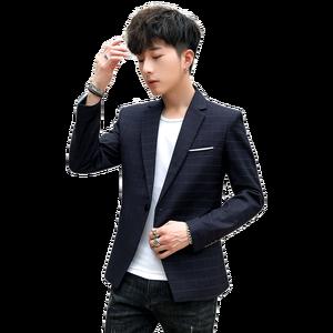 Image 1 - החדש Slim Fit מקרית בלייזר מעיל יחיד כפתור Mens חליפת מעיל סתיו משובץ מעיל זכר חבילת M 3XL drop חינם