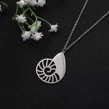 Женская мода ключицы цепи простой кулон ракушка ожерелье из