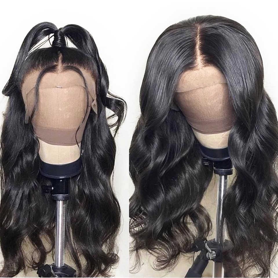 บราซิล Body WAVE วิกผมลูกไม้ด้านหน้าด้านหน้ามนุษย์ Wigs ก่อน Plucked ผมเด็ก 150 ความหนาแน่น 360 ลูกไม้ด้านหน้าวิกผม remy ผม