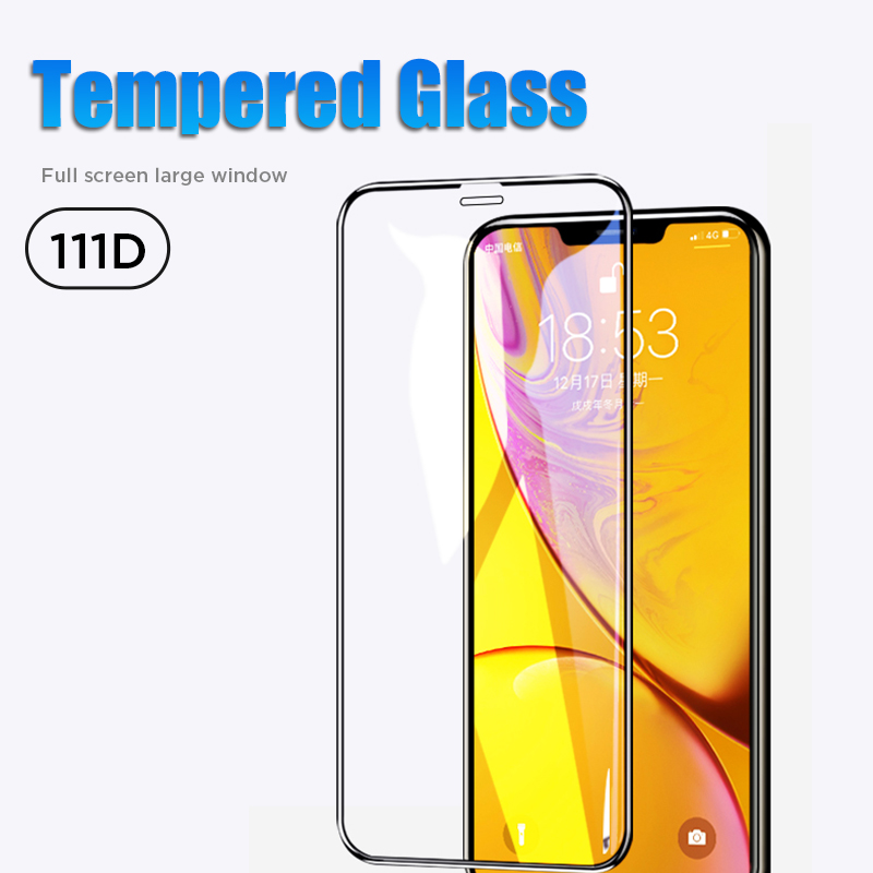 111D Safety Film Tempered Glass for iPhone 11 Pro X Xr Xs Max Screen Protector Protective Glass for 7 8 6 6S Plus 5 5S SE image