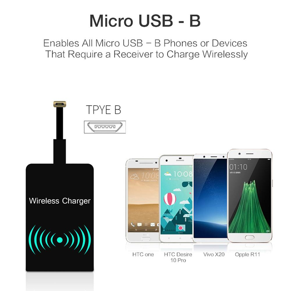 New QI Wireless Charger Receiver Wireless Charging Pad Coil for Huaweip30 iPhone XR Samsung S10 LG G7 V30 HTC one Nokia xiaomi 3