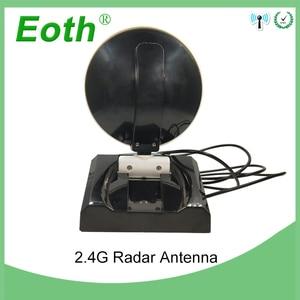 Image 4 - 2 adet WiFi anten 2.4GHz anten yüksek kazanç 10dBi RP SMA erkek kablosuz WLAN yönlü Radar anten RG174 kablo 1M yönlendirici