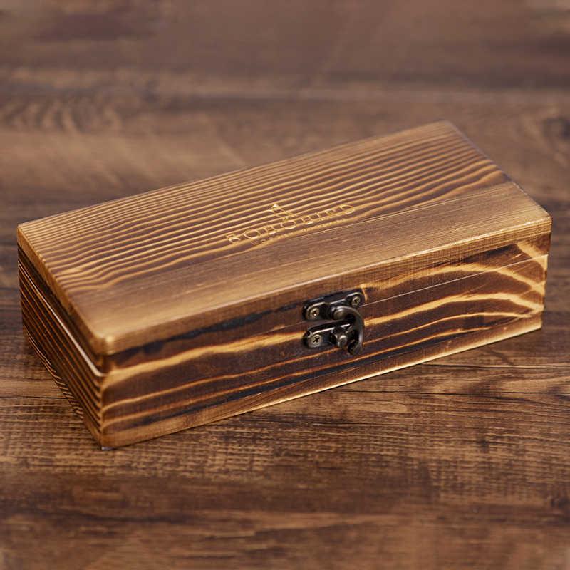 Relojes BOBO BIRD para hombre, cajas cuadradas de madera, cajas redondas de bambú para regalo, cajas de joyería