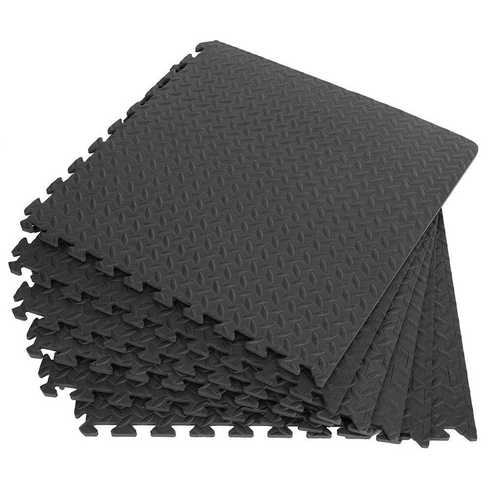 12 pçs 30*30cm eva folha de grão esteiras do assoalho do ginásio esteira de emenda tapetes de retalhos engrossar choque para exercícios da sala de ginástica