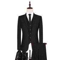 Suit Suit Men Three piece Set Slim Fit Marriage Dress Business Positive Pack England Grid Suit