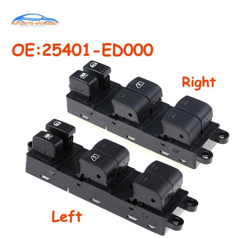 Nouveau gauche ou droite 25401-ED000 25401ED000 pour Nissan Tiida électrique lève-vitre maître interrupteur de commande accessoires de voiture