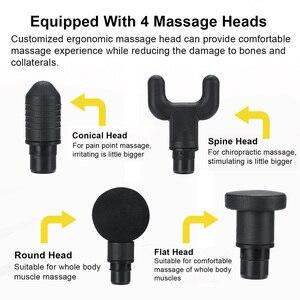 Image 5 - Massageador muscular elétrico, percussivo, vibratório, poderoso, de mão, para tecido profundo, massageador muscular para pescoço, costas e ombros