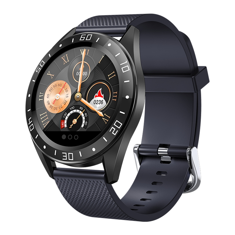 1.22inch Smart Watch <font><b>GT105</b></font> <font><b>Smartwatch</b></font> Men Women Heart Rate Blood Pressure Monitor With Weather Push Music Control Call Xmas Gift image