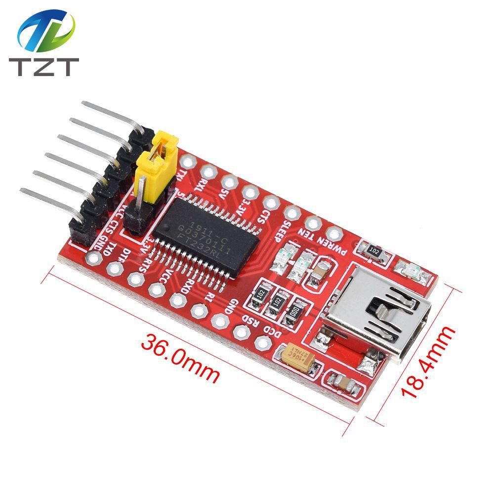 Высококачественный последовательный адаптер FT232RL FT232 FTDI USB 3,3 В 5,5 В в TTL, мини-порт для arduino