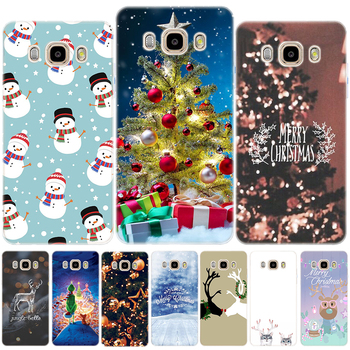 Merry Christmas Soft TPU Case Cover For Samsung Galaxy J3 J7 J8 J4 J6 2018 J2 J5 Prime J3 J5 J7 2015 2016 2017 M10 M20 M30 image