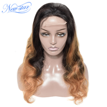Ombre T1b/27 объемный волнистый парик, бразильские человеческие волосы, парик на заказ, новая звезда, девственные волосы, парик, 180% Плотность для черных женщин