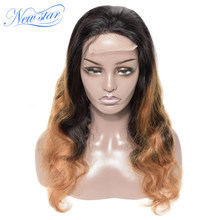 Ombre T1b/27 Body Wave Wig Brazilian Human Hair Wig Customized New Star Virgin Hair Wig 180%Density For Black Women(China)