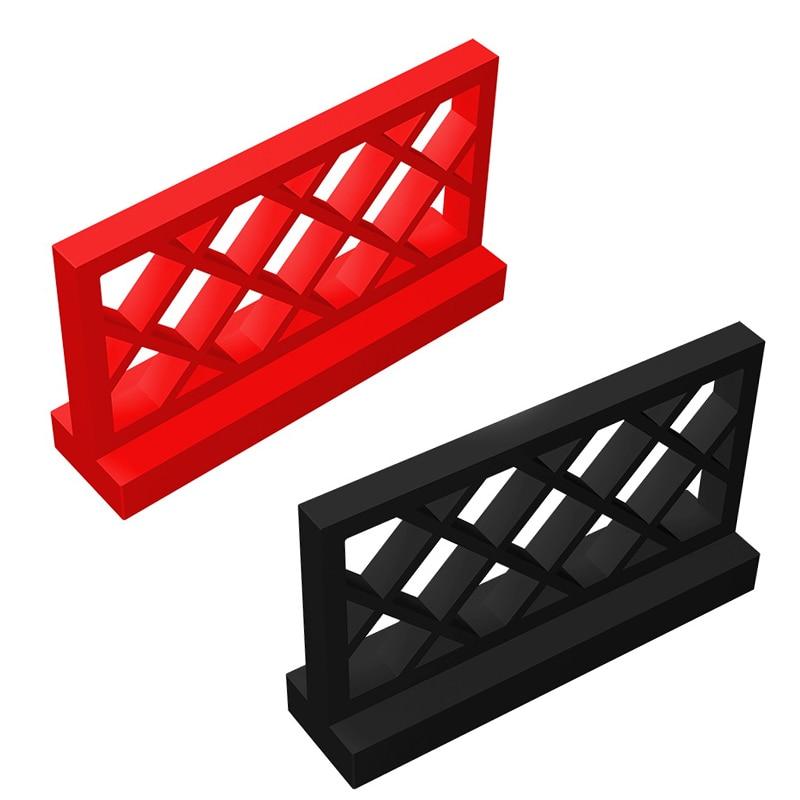 20pcs/50pcs Building Block Toy DIY Parts Fence Assembles Particles Fence 1x4x2 Bricks Parts Educational Gift Toys
