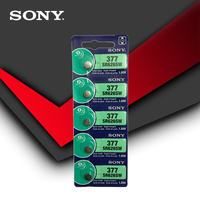 2pcs Sony 100% Original 377 SR626SW SR626 AG4 1.55V Silver Oxide Watch Battery SR626SW 377 Button Coin Cell MADE IN JAPAN 2