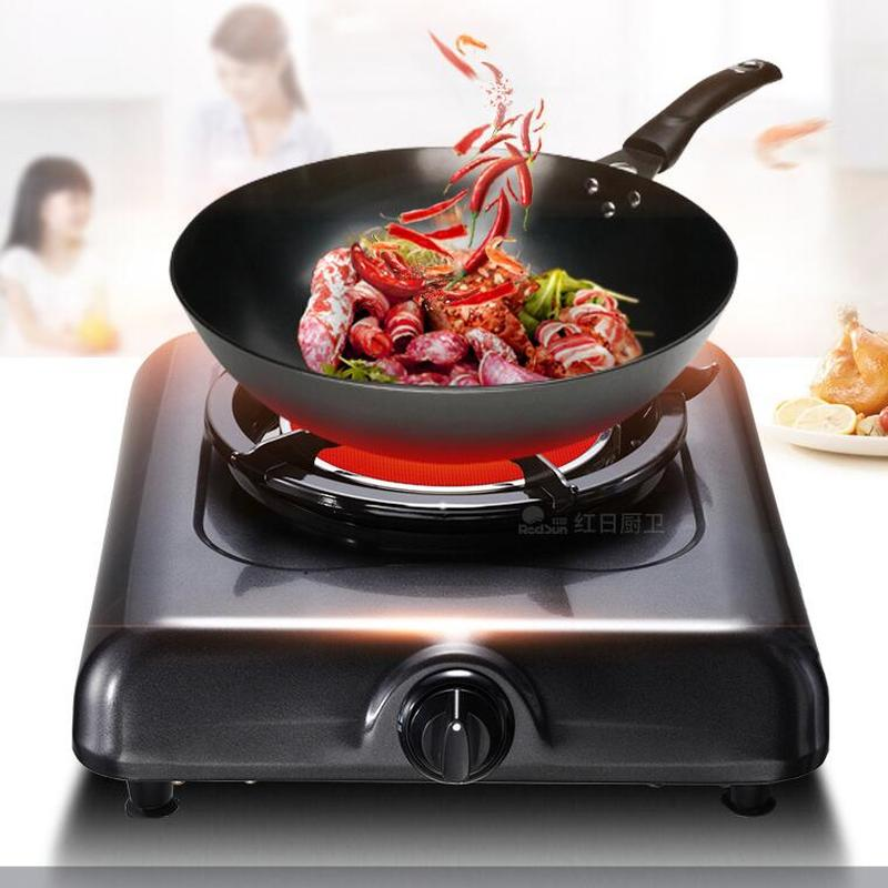 Gas Cooker Single Kitchen Stove Household Energy saving Liquid Gas Benchtop Single Gas Cooker Gas Stove 108dCooktops   -