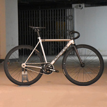 Fixed Gear Fiets 48Cm 52Cm 55Cm 60Cm Single Speed Bike Track Fiets Aluminium Frame Met carbon Fiber Vork 40Mm Alloy Wheel