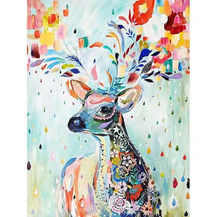 Diy 1000 Pieces Jigsaw Puzzle Color Elk Deer Famous Painting Adult Puzzles Game Toys For Adults Home Decoration Kids Xmas Gifts