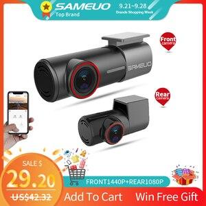 SAMEUO U700 Mini Hidden FHD 1080P Car Dash Cam Front Rear Camera DVR Detector with WiFi FHD Video Recorder 24H Parking Monitor()