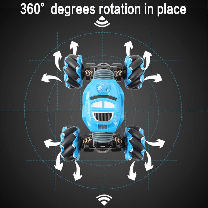 Rc Auto 4WD Radio Control Stunt Auto Gebaar Inductie Draaien Off-Road Voertuig Licht Muziek Drift Speelgoed Hoge Snelheid klimmen Rc Auto