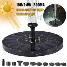 Fonte de água solar do jardim da lagoa da piscina ao ar livre solar da fonte de água do diodo emissor de luz de flutuação estável da bomba solar com mudança de cor automática