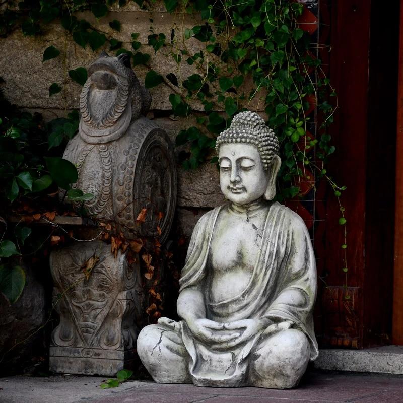 Zen Decoration Buddha Statue Decoration Outdoor Garden Courtyard Large Crafts Chinese Garden Landscape Decoration Statues Sculptures Aliexpress