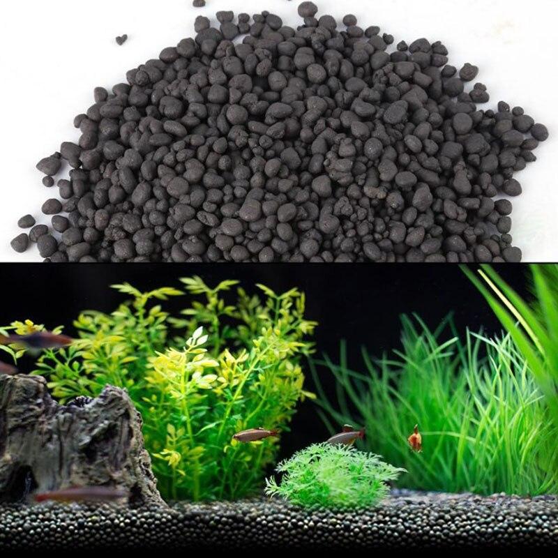 100g Aquatic Float Grass clay Aquarium Soil for waterweeds Aquarium Bed for Aquarium Plants Seeds for Beautiful Waterscape(China)