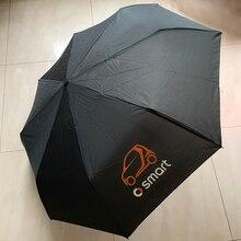 Guarda chuva automático dobrável resistente ao vento para smart fortwo forfour 453 451 450 forjeremy city coupe crossblade cabrio roadster