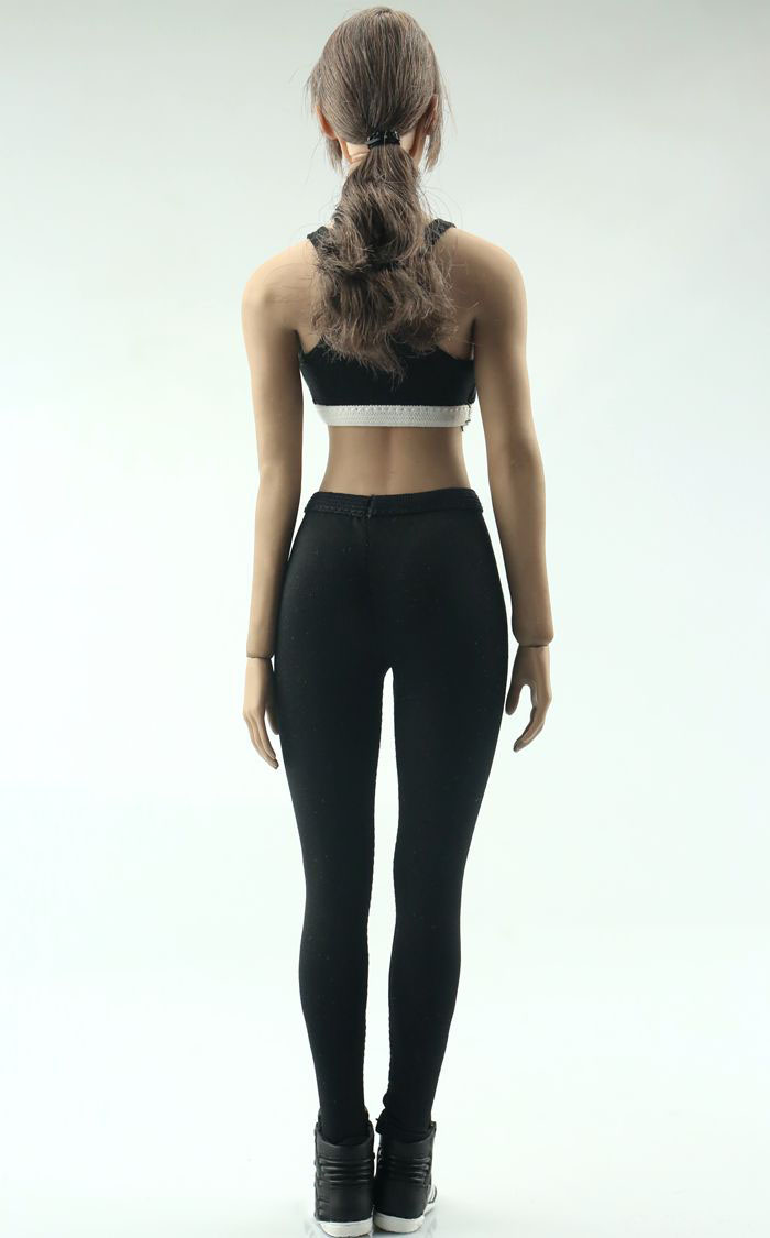 Fire Girl Toys 1//6 Black Fitness Sportswear Yoga Clothing Model F Action Figure