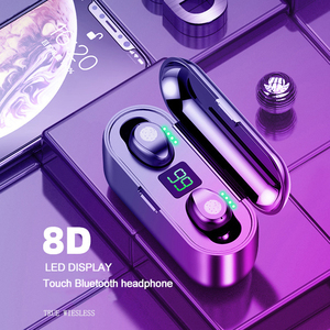 TWS Wireless Earphone Headphones 5.0 Bluetooth IPX5 Waterproof 3D Sports Stereo Sound Headphones headset With Charging Box