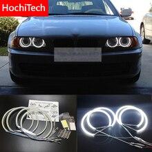Hochitech Cho Xe BMW E36 E38 E39 E46 Máy Chiếu Sáng Cực Sáng SMD LED Trắng Đôi Mắt Thiên Thần 2600LM 12V Hào Quang Nhẫn bộ Ban Ngày Ánh Sáng 131mmx4
