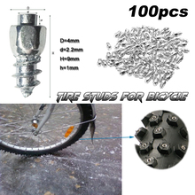 9 mm Carbide Screw Tungsten Tire Studs Snow Spikes Anti-Slip Anti-ice for Bikes/Motorcycles with Installation Tool