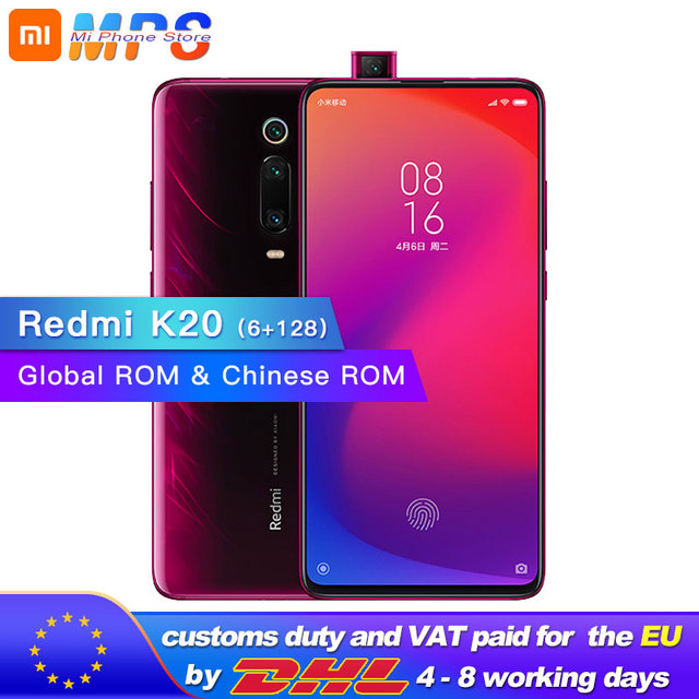 "Global Rom Xiaomi Redmi K20 6GB 128GB Mobilephone Snapdragon 730 48MP Rear Camera Pop up Front Camera 4000mAh 6.39"" AMOLED"