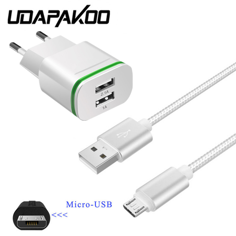 Nylon metal plug Micro usb cable & travel usb fast Charger for samsung galaxy a6 j4 j6 a3 <font><b>a5</b></font> a7 <font><b>2016</b></font> j3 j5 j7 Redmi <font><b>5</b></font> 6 7a phone image