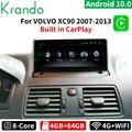 Krando Android 10,0, 4 ГБ, 64 ГБ, автомобиль радио мультимедиа Экран Navi GPS стерео для Volvo XC90 2007-2013 головное устройство Carplay DVD плеер