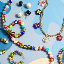 Colorful Floral Beads Necklace for Women Fashion Statement Handmade Beaded Choker Necklaces Bohemian Jewelry Gift