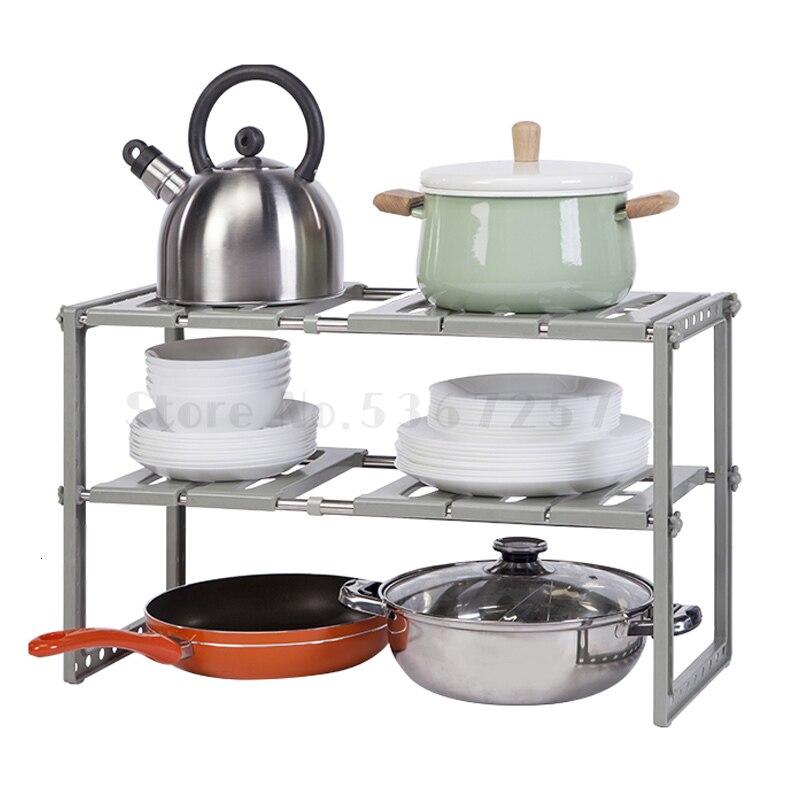 Bon pour vous étagère d'évier de cuisine le support de rangement multifonction peut être un support de rangement rétractable à deux étages.