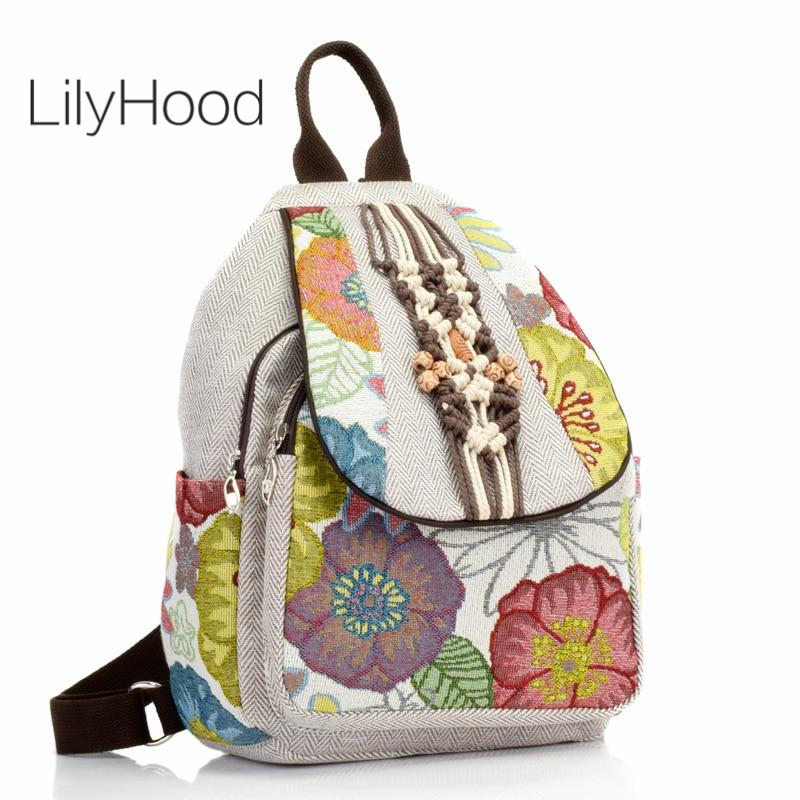 mochila de corda de croche feminina mochila pequena boho chique floral diaria mochila feminina estilo hippie