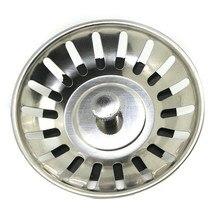 8 см кухонная раковина канализация комбинированный фильтр из нержавеющей стали для раковины латунный фильтр для отходов пробка для слива Стопорная корзина кухонные инструменты