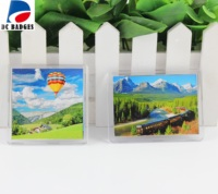 100 piece 65*65mm Transparent blank acrylic fridge magnet photo frame