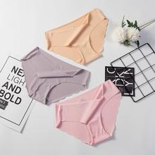 Bezszwowe majtki dla kobiet gorąca wyprzedaż ultra cienka bielizna wygodna i seksowna majtki z obniżonym stanem tanie tanio ECMLN NYLON Figi CN (pochodzenie) D-PB02-02-W 80 Nylon+20 Spandex Stałe NONE Niskim wzrostem WOMEN Natural Color Everyday