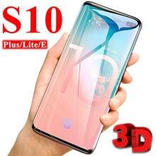 3d caso de vidro protetor para samsung galaxy s10 plus lite s 10 tremp protetor de tela verre armadura samsu galx filme de vidro temperado