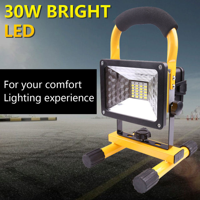 2400LM 24LED Searching Light 30W Portable Spotlight  3 Modes Rechargeable LED Floodlight Camping Light Work Light Solar Charge