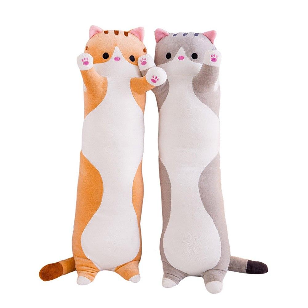 Cute Plush Cat Doll Soft Stuffed Kitten Pillow Doll Toy Gift for Kids Girlfriend Long cat doll plush toy Lazy sleeping pillow