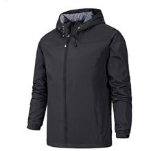 Весенняя водонепроницаемая верхняя одежда, куртка, пальто для мужчин, черный, синий, Спортивная ветровка с капюшоном, белый, красный, Мужско...