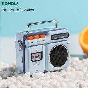 Image 3 - Bonola Retro Radio Forma HiFi Altoparlante Senza Fili del Bluetooth Mini Altoparlante del Bluetooth Portatile Outdoor 3D Stereo HiFi Riproduzione di Musica