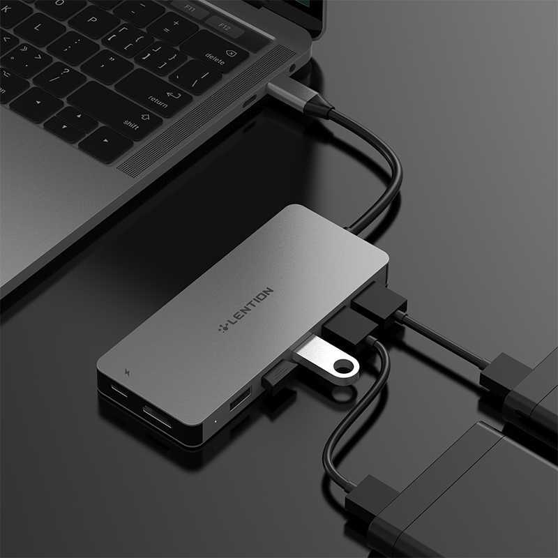 Lention USB HUB vers Multi USB 3.0 HDMI adaptateur Dock pour MacBook Pro 13.3 accessoires USB-C Type C 3.1 répartiteur 3 ports USB C HUB