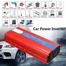 P EAK трансформатор напряжения 3000 Вт, автомобильный инвертор 12/24 в переменный ток 220/110 в, USB модифицированный синусоидальный инвертор, Универс...