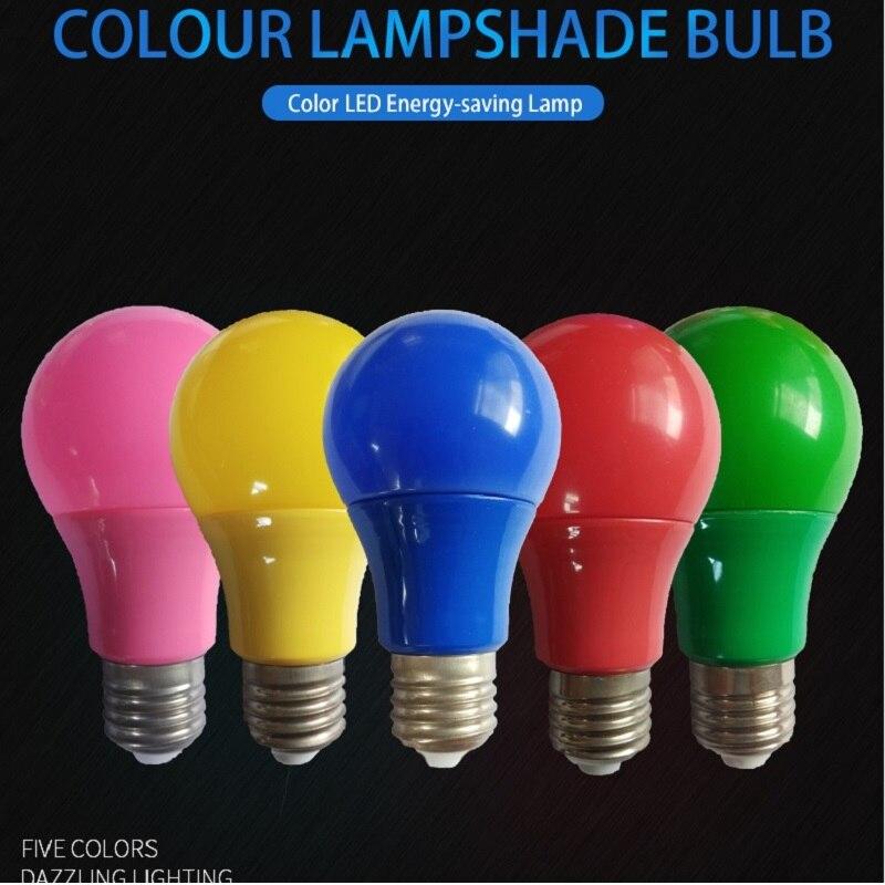 Light Bulb E27 Led Bar Light 5W 7W 9W Red Blue Green Yellow Pink LED Light For Bar KTV Party Lighting